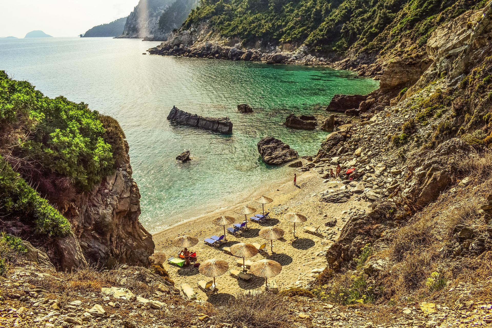 skopelos, plaže, grčka, more, pesak